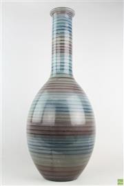 Sale 8568 - Lot 80 - Elements Blue Art Glass Vase ( H 67cm)