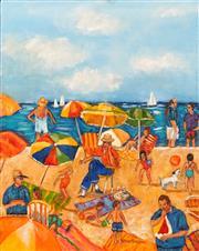 Sale 8657A - Lot 5002 - Stanley Perl (1942 - ) - Fun in the Sun IV 50.5 x 40cm