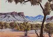 Sale 8696 - Lot 565 - Keith Namatjira (1938 - 1977) - Haasts Bluff 23.5 x 34.5cm