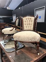 Sale 8868 - Lot 1168 - Pair of Non-Matching Victorian Nursing Chairs