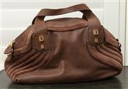 Sale 8902H - Lot 121 - An Italian brown suede and leather shoulder bag by Luana