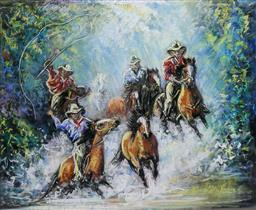 Sale 8972A - Lot 5027 - Lynette Koci Snr. - On the Move 43 x 54 cm