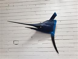 Sale 9092 - Lot 1095 - Painted Taxidermy Marlin Head mount (h:93 x w:106cm)