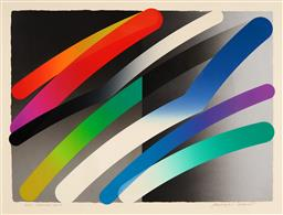 Sale 9125A - Lot 5071 - Takeshi Hara - Strokes 88-4 57 x 79 cm (frame: 81 x 100 x 3 cm)