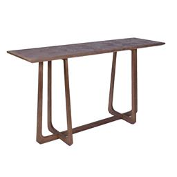 Sale 9140F - Lot 38 - Contemporary new elm wood side table in natural brown. Dimensions: W155 x D47 x H85 cm