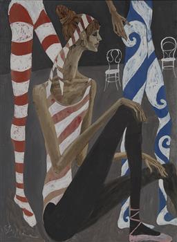Sale 9161A - Lot 5041 - GREG IRVINE (1947 - ) - Rehearsal 100 x 74.5 cm (frame: 118 x 92 x 3 cm)