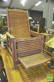 Sale 8371 - Lot 1046 - Timber Outdoor Recliner