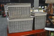 Sale 8404 - Lot 1090 - Three Varied Cane Baskets