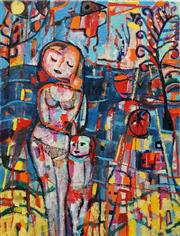 Sale 8575 - Lot 597 - Judi Singleton (1963 - ) - Mother and Child at the Beach, 2011 87 x 66cm