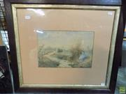 Sale 8582 - Lot 2130 - Artist Unknown (C19th) - Woman by the River 21.5 x 30.5cm (frame: 55.5 x 63cm)