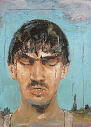 Sale 8738 - Lot 581 - Steven Cox (1958 - ) - Boy in the Rain, 1989 56 x 40.5cm
