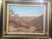 Sale 8767 - Lot 2022 - Joan Graham - Medlow Bath, oil on board, frame size 39 x 48.5cm, signed lower left