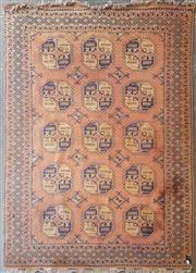 Sale 8814 - Lot 1095 - Cadrys Persian Wool Turkoman, with tribal filpa in orange tones (265 x 190cm)