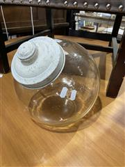 Sale 8876 - Lot 1088 - Vintage Glass Cookie Jar