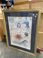 Sale 8990 - Lot 2091 - Marc Chagall Decorative Print (105 x 85cm)