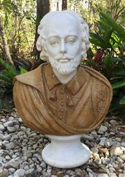 Sale 9015G - Lot 16 - Large Carved Marble Bust. General Wear .Natural Stone crack lines on hair.65cm H x 45cm Widest