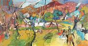 Sale 9067 - Lot 507 - Reinis Zusters (1919 - 1999) - Erotic Landscape 38.5 x 74 cm (frame: 52 x 87 x 4 cm)