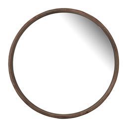 Sale 9140F - Lot 39 - A modern round wall mirror featuring a thin, dark fir wood frame. Dimensions: W70 x D5 x H70 cm