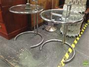 Sale 8412 - Lot 1021 - Pair of Eileen Grey Style Side Tables