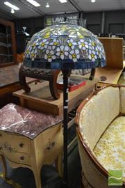 Sale 8480 - Lot 1141 - Leadlight Shade Standard Lamp