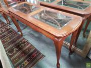 Sale 8593 - Lot 1091 - Glass Inset Hall Table