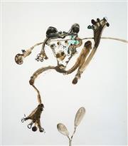 Sale 8683 - Lot 527 - John Olsen (1928 - ) - Hanging Tree Frog 55 x 63cm (frame: 67 x 78cm)