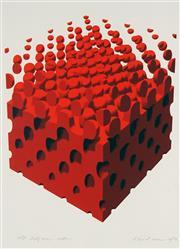 Sale 8781 - Lot 591 - David Rose (1936 - 2006) - Half Tone Cube, 1972 69 x 49cm