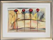 Sale 8778A - Lot 5035 - Lennor Gogli - Rose Fresco 122 x 88.5cm (frame)