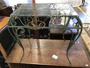 Sale 8822 - Lot 1549 - Glass Top Garden Table