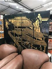 Sale 8868 - Lot 1577 - Chinese Four Panel Wall Screen