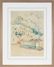 Sale 8936 - Lot 2006 - A. Melville - Crete 1902 watercolour, 49 x 35cm, signed lower right -