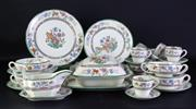 Sale 8968 - Lot 4 - Copeland Spode Chinese Rose Part Dinner service incl. lidded bowl, coupes, plates, cups