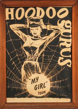 Sale 9136 - Lot 1 - Hoodoo Gurus vintage framed poster (110cm x 80cm)