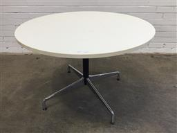 Sale 9151 - Lot 1029 - Round Eames conference table (h73 x d130cm)