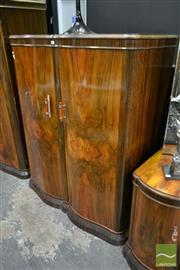 Sale 8507 - Lot 1007 - Art Deco Veneered 2 Door Robe