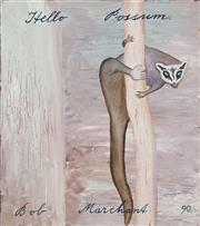 Sale 8622 - Lot 2009 - Bob Marchant (1938 - ) - Hello Possum, 1990 50 x 40.5cm