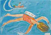 Sale 8575 - Lot 509 - Kerrie Lester (1953 - 2016) - Diving 21 x 29.5cm