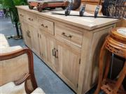 Sale 8688 - Lot 1033 - Recycled Oak Chess Pattern Sideboard