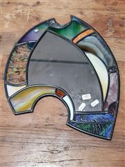 Sale 8826 - Lot 1054 - Jeff Hamilton Flying Abstract 2/25 Leadlight Mirror