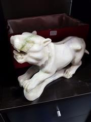 Sale 8834 - Lot 1075 - Carved Greenstone Tiger
