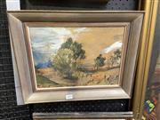 Sale 9058 - Lot 2079 - Artist Unknown - Australian Landscape 33 x 43 cm