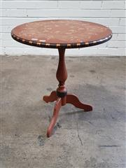 Sale 9063 - Lot 1099 - Hand Painted Tilt Top Wine Table (h:51 x d:58cm)