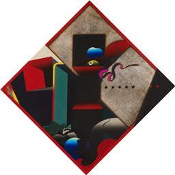 Sale 9125A - Lot 5031 - Akira Kurosaki - Closed Room 77 x 77 cm (frame: 116 x 116 x 3 cm)