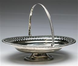 Sale 9138 - Lot 20 - A Victorian Hallmarked Sterling Silver Basket, Sheffield c1866 (W: 31cm) (Wt 547)