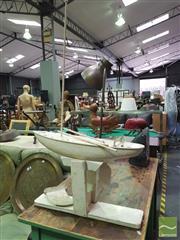 Sale 8424 - Lot 1019 - Model Wooden Boat on Stand (AF)