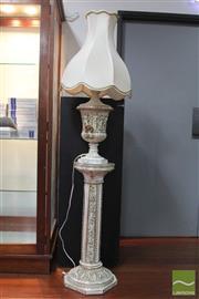 Sale 8494 - Lot 32 - Capodimonte Urn Shape Lamp On Plinth