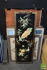 Sale 8506 - Lot 2066 - Collection of Artworks incl Chinese Peacock Panel