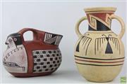 Sale 8568 - Lot 70 - Cultural Clay Pots (2)