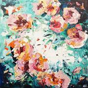 Sale 8624 - Lot 541 - Cheryl Cusick - Floriade 100 x 100cm