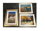 Sale 8671 - Lot 2055 - 3 Framed Prints: Van Gogh & Boyd